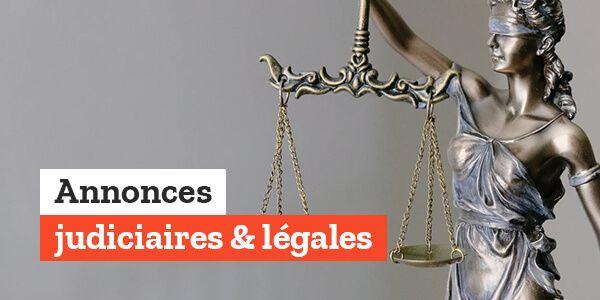 Annonces judiciaires & légales