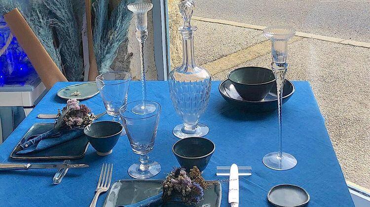 bleu de lectoure 0 table